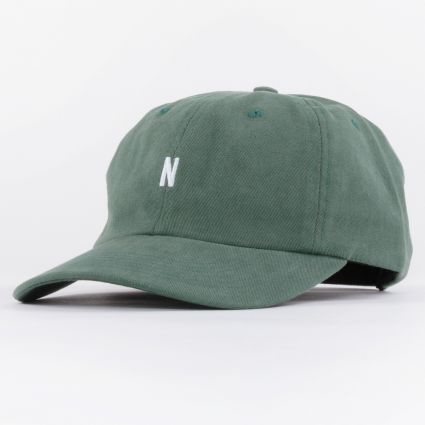 Norse Projects Twill Sports Cap Dartmouth Green1