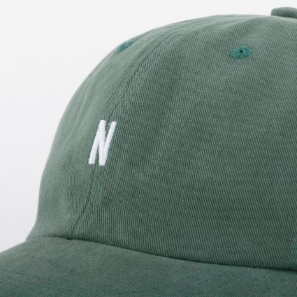 Norse Projects Twill Sports Cap Dartmouth Green