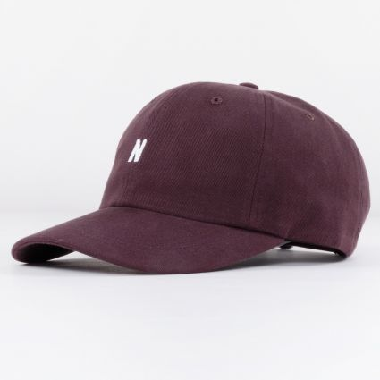 Norse Projects Twill Sports Cap Eggplant Brown1