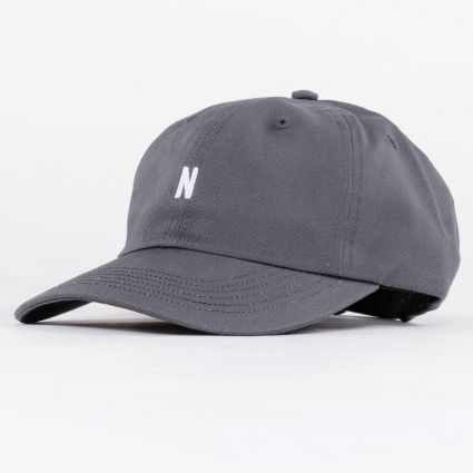 Norse Projects Twill Sports Cap Magnet Grey1