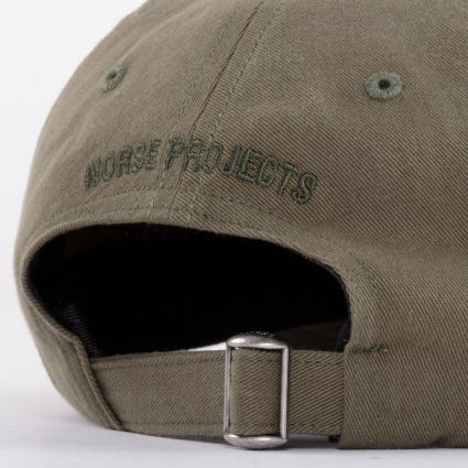 Norse Projects Twill Sports Cap Washed Kelp