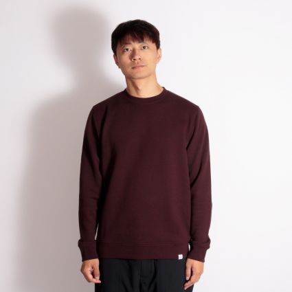 Norse Projects Vagn Classic Crew Sweatshirt Eggplant Brown