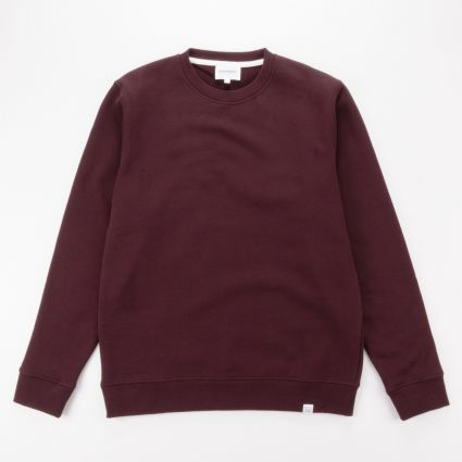 Norse Projects Vagn Classic Crew Sweatshirt Eggplant Brown5