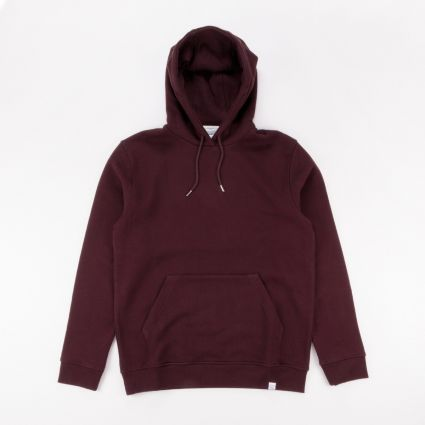 Norse Projects Vagn Classic Hoodie Eggplant Brown1