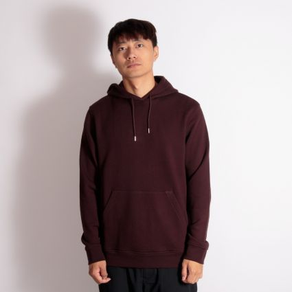 Norse Projects Vagn Classic Hoodie Eggplant Brown