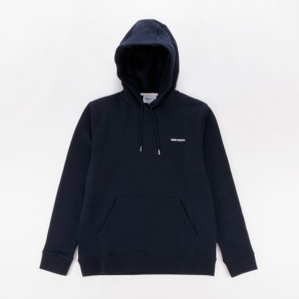 Norse Projects Vagn Logo Hoodie Dark Navy