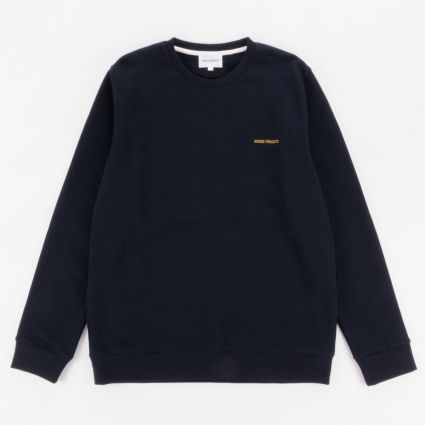Norse Projects Vagn Logo Sweatshirt Dark Navy1