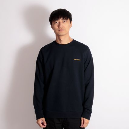 Norse Projects Vagn Logo Sweatshirt Dark Navy