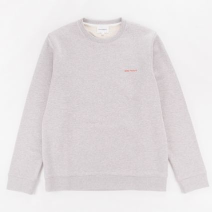 Norse Projects Vagn Logo Sweatshirt Light Grey Melange1