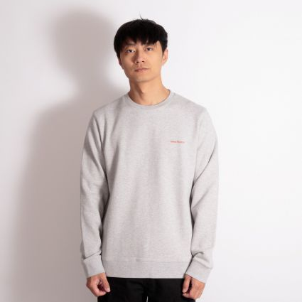 Norse Projects Vagn Logo Sweatshirt Light Grey Melange