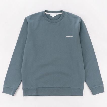 Norse Projects Vagn Logo Sweatshirt Mineral Blue