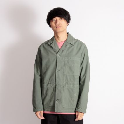 Norse Projects x Geoff McFetridge Mads Backsatin Jacket Thyme Green