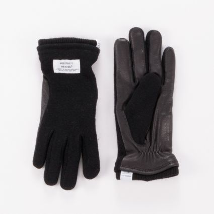 Norse Projects x Hestra Svante Gloves Black1