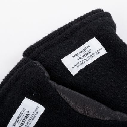 Norse Projects x Hestra Svante Gloves Black