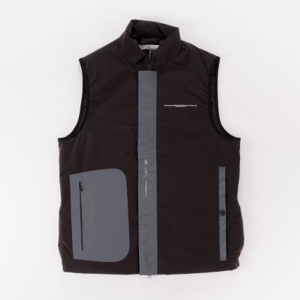 Oakley By Samuel Ross Puffer Vest Dark Brown