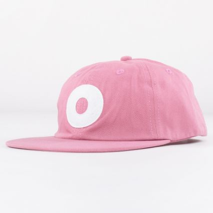 Obey Block 6 Panel Strapback Cap Mesa Rose1