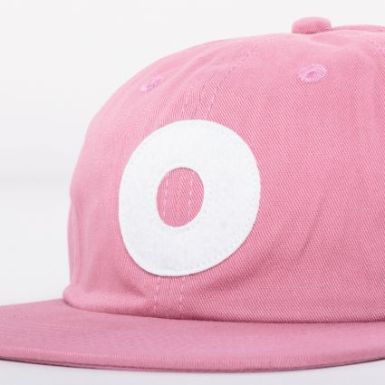Obey Block 6 Panel Strapback Cap Mesa Rose