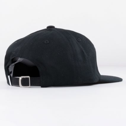 Obey Bold 6 Panel Strapback Cap Black