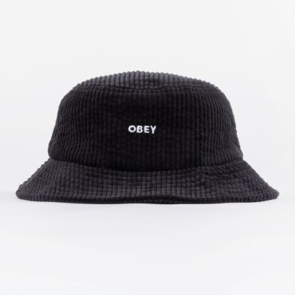 Obey Bold Cord Bucket Hat Black1
