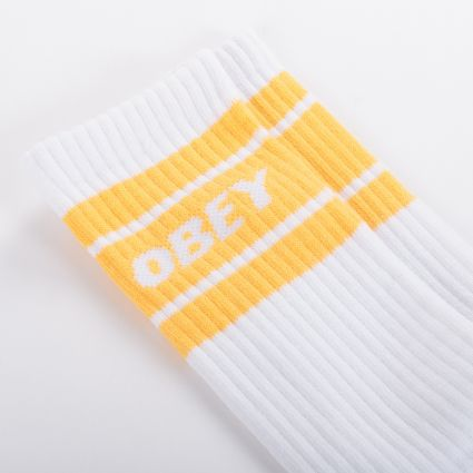 Obey Cooper II Socks White/Mellow Yellow
