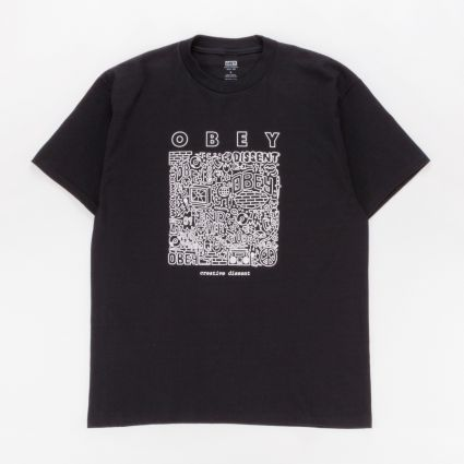 Obey Creative Dissent T-Shirt Black1