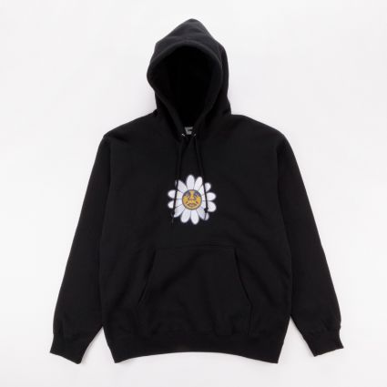 Obey Daisy Hoodie Black1