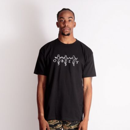 Obey Dance With Us T-Shirt Black