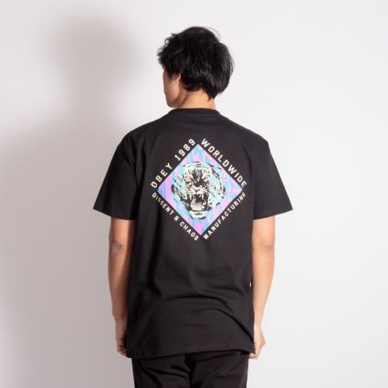 Obey Dissent & Chaos Tiger T-Shirt Black
