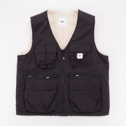 Obey External Vest Black1