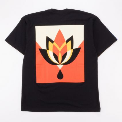 Obey Geometric Flower 3 Sustainable T-Shirt Black