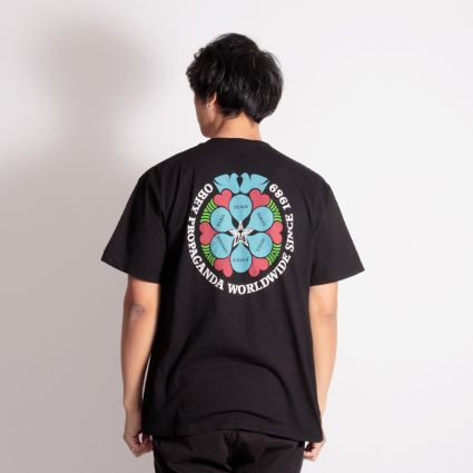 Obey Global Peace T-Shirt Black