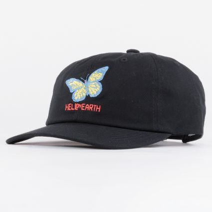 Obey Hell On Earth 6 Panel Strapback Hat Black1