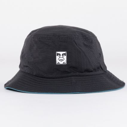 Obey Icon Reversible Bucket Hat Black Multi1