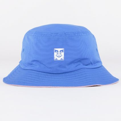 Obey Icon Reversible Bucket Hat Blue Multi1