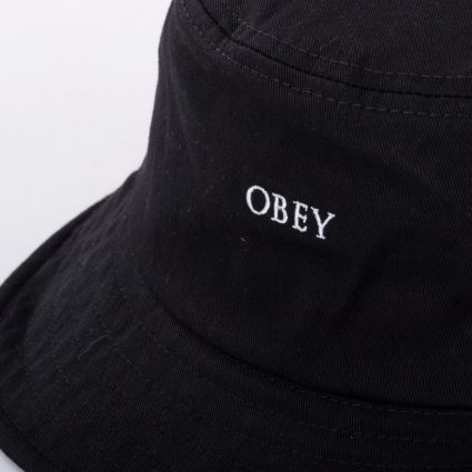 Obey Ideals Organic Bucket Hat Black