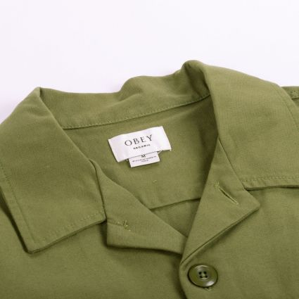 Obey IDEALS ORGANIC FIELD WOVEN JACKET ARMY GREEN