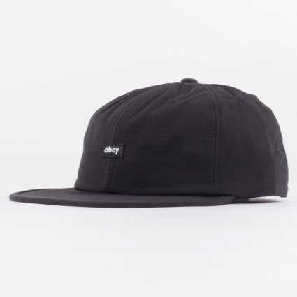 Obey Lampin 6 Panel Cinch Back Cap Black1