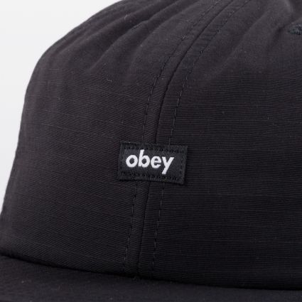 Obey Lampin 6 Panel Cinch Back Cap Black