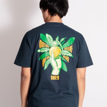 Obey Mother Nature On The Run T-Shirt Navy