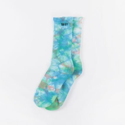 Obey Mountain Socks Blue Beat Multi1