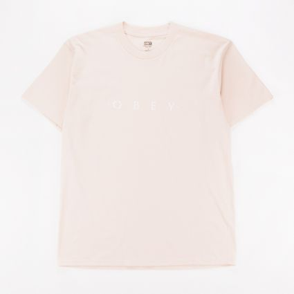Obey Novel Obey T-Shirt Cream1