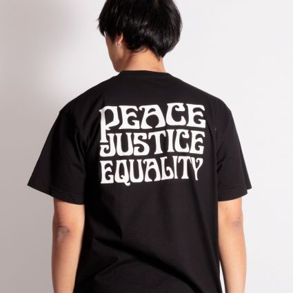 Obey Peace Justice Equality T-Shirt Black