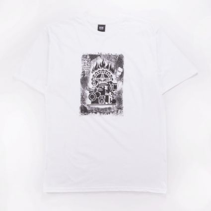 Obey Press Etching Basic Tee White1