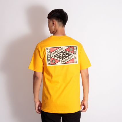Obey Prop. Engineering Basic T-Shirt Gold
