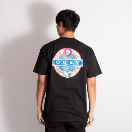 Obey Purveyors Of Dissent T-Shirt Black
