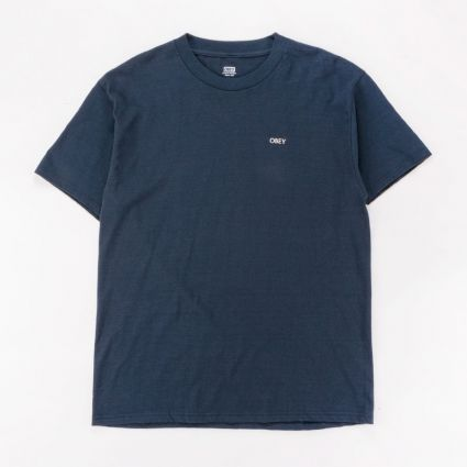 Obey Radiant Lotus T-Shirt Navy1