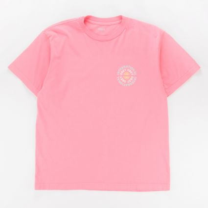 Obey Supply & Demand T-Shirt Pink Lift