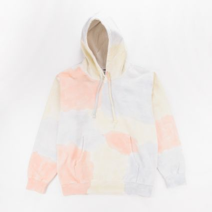 Obey Sustainable Tie Dye Fleece Hoodie Pheasant Multi1