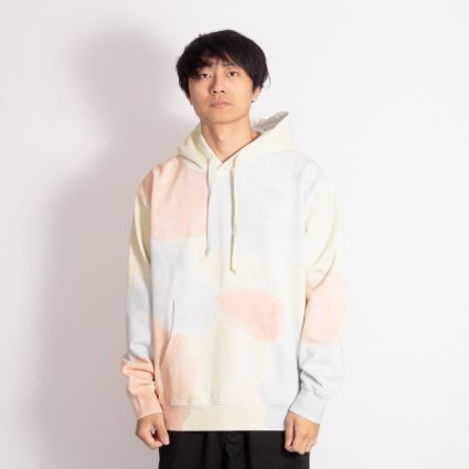 Obey Sustainable Tie Dye Fleece Hoodie Pheasant Multi