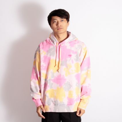 Obey Sustainable Tie Dye Hoodie Yellow Multi